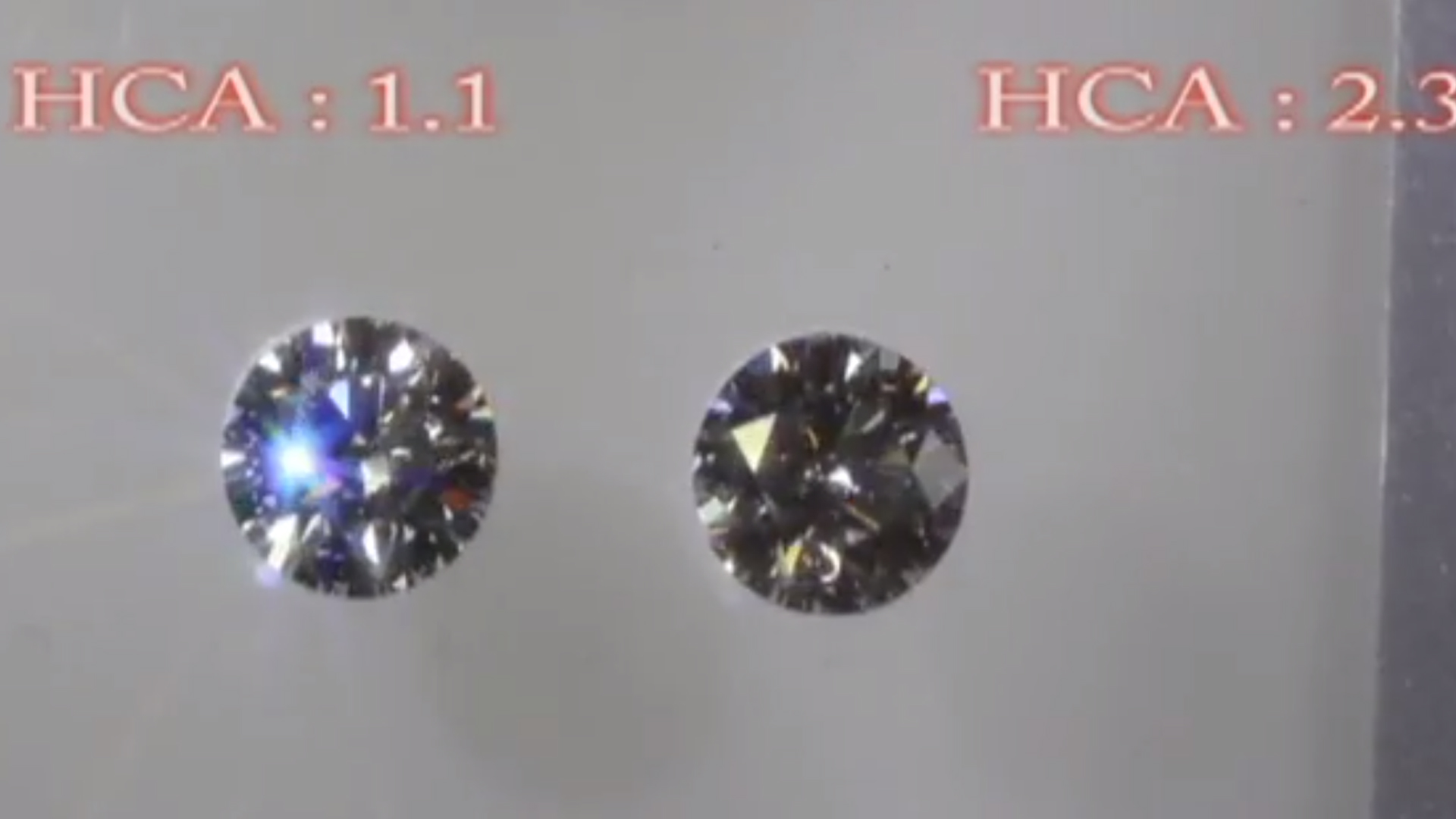 JannPaul Edu: Comparing HCA Scores of a Signature Super Ideal Diamond with a Normal Round Diamond